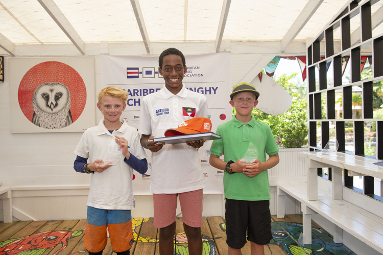 Winners Celebrate ast the 2019 Caribbean Dinghy Championships Wrap Up Caribbean Sailing Week 17th – 20th October 2019
