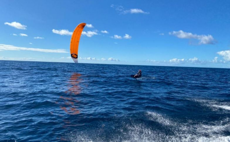 Kite-Boarder & AYC Member Tiger Tyson completes round trip between Antigua & Barbuda in historic fashion