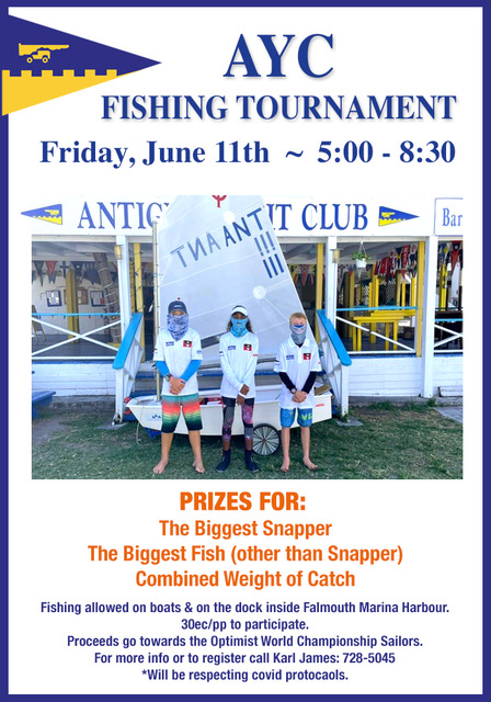 AYC Sailors & Supporters Fishing Tournament Info, Entry Form and Rules