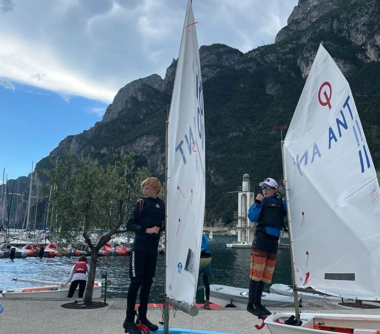 Team Antigua at the Optiworld Championships in Italy – Photos from Monday Training