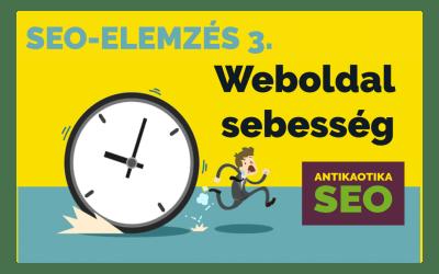 Weboldal sebesség teszt