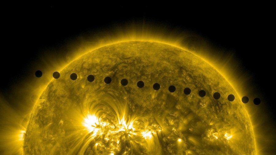 Το πέρασμα της Αφροδίτης μπροστά από τον Ήλιο. Το φαινόμενο διήρκεσε 7 ώρες, και δεν θα συμβεί ξανά για τα επόμενα 105 χρόνια.