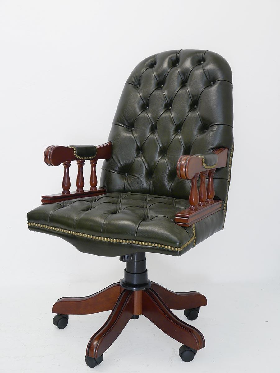 office chair ebay best chairs geneva glider espresso wood granite schreibtischsessel bürostuhl sessel chefsessel captain chesterfield (1874)  