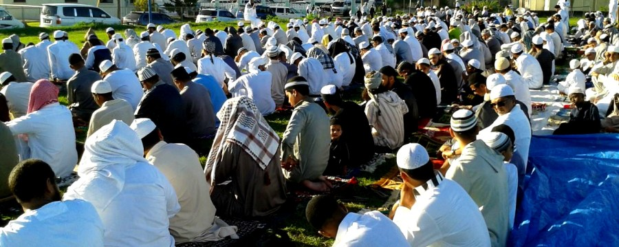 Eid prayer Barbados 2014-