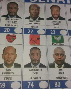 Ballot for Senatorial candidates. Look at #20 and #74. Image credit @jistispoujacky