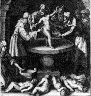 Ritual murder of several babies