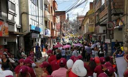 Marcha multitudinaria se tomó las calles de Girardota
