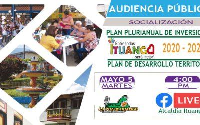 Ituango socializa Plan Plurianual de inversiones