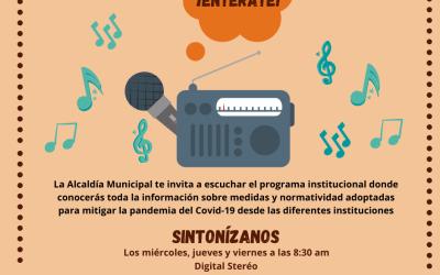 Valdivia informa a través de la radio, de los avances en el tema de Covid 19