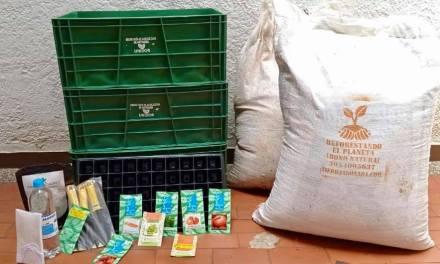 Sabaneta regala kits de huertas urbanas