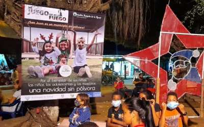 San Juan de Urabá sigue trabajando en la campaña de decirle NO a la pólvora