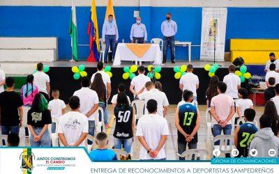 San Pedro de los Milagros realizó una conmemoración a sus deportistas