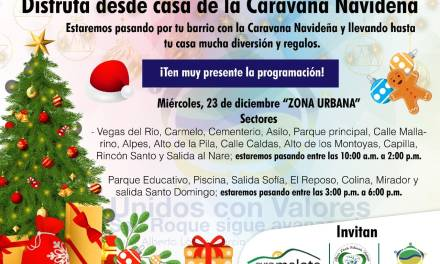 Caravana navideña en San Roque