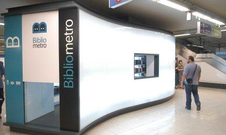 Nueva Bibliometro en la estación Santo Domingo