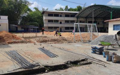Nueva placa polideportiva tendrá la I.E. Ignacio Yepes Yepes en Remedios