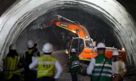 En un 50% de excavación llega el Túnel Guillermo Gaviria Echeverri