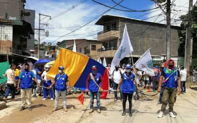 Mineros de Segovia se unen al Paro Nacional