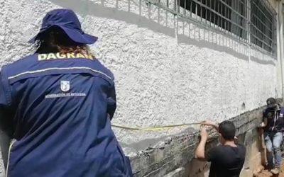 La Gobernación visitó afectaciones en una institución de Alejandría