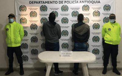 En Abejorral fueron capturados dos hombres por tentativa de homicidio