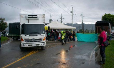 Vía La Ceja – La Unión fue bloqueada por las manifestaciones