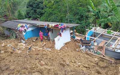 Dos municipios del Nordeste han sido afectados por la ola invernal