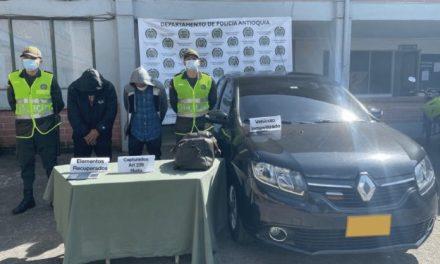 En Rionegro capturan dos hombres y una menor de edad dedicados al hurto