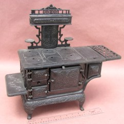 Cast Iron Kitchen Stove Cabinet Ideas For Kitchens Antiqbuyer Salesman Sample And Toy Stoves Past Sales