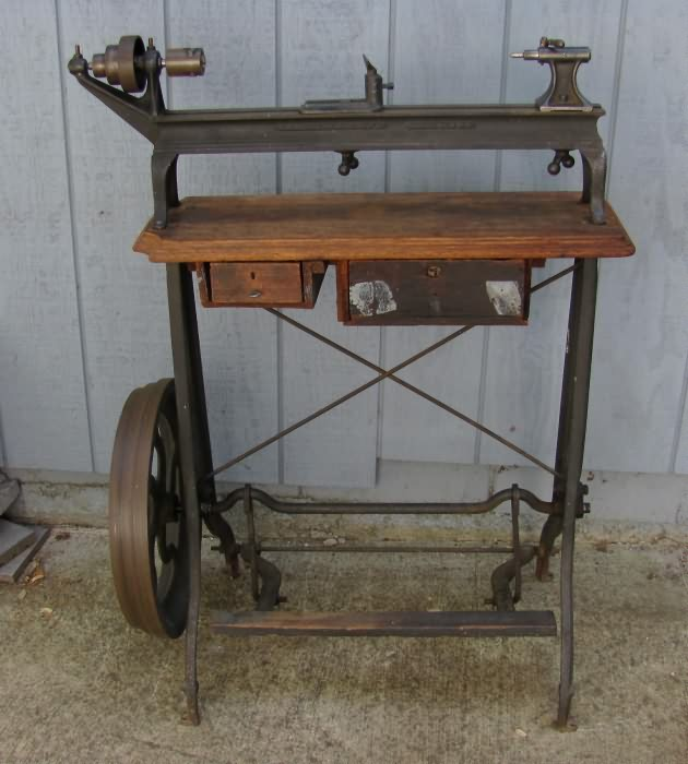 Old Fashioned Wood Lathe