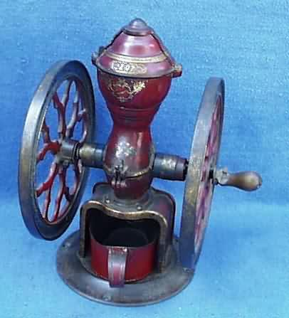 vintage kitchen stoves roll about cart www.antiqbuyer coffee mills & grinders