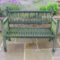 Antique Wooden Garden Bench - Antique For The Garden