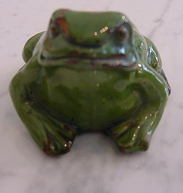 Ceramic Frog Ornament  Antique Decorative Items