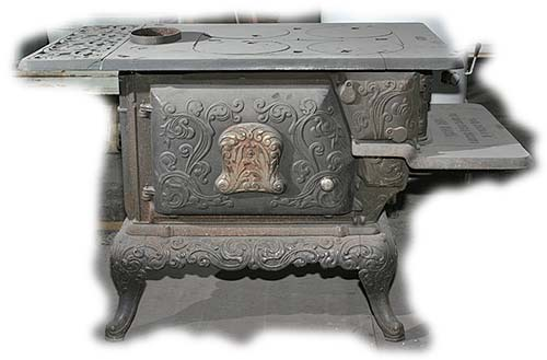 Antique Heaters and Stoves For Sale - Never Fail Walkaround Wood Stove