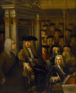 Painting depicting Speaker Arthur Onslow calling upon Sir Robert Walpole to speak in the House of Commons ©National Trust ImagesJohn Hammond