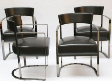 eight Italian-made Morgan dining chairs