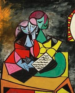Pablo Picasso, Deux Personnages (La Lecture)