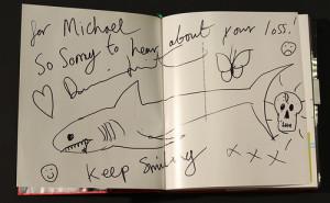 Damien Hirst signed book