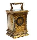cloisonné enamel carriage clock
