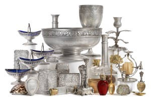 Collection of silver at Tennants