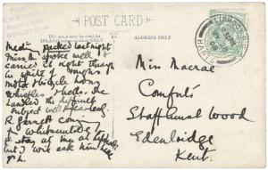 A postcard to suffragette Helen McCrae
