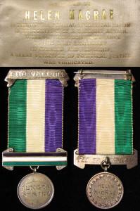 Suffragette medals belonging to Helen McRae