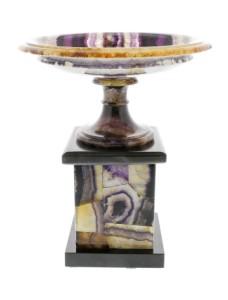 Blue John pedestal dish or tazza