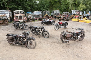 A collection of classic bikes for auction at Bonhams