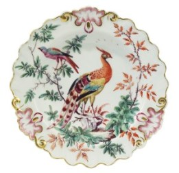 A Chelsea plate c.1760 from Baroness Thatcher's collection