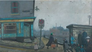 Norman Cornish, Argyle Street, oil on board 46 x 79cm ©Artist's Estate