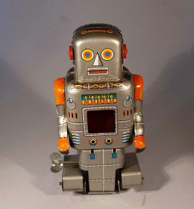 Robot with spark by Yoneya Japan