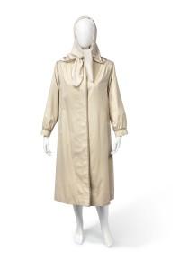 Tank raincoat and silk headscarf