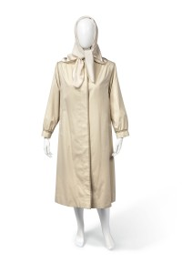 Tank raincoat and silk headscarf