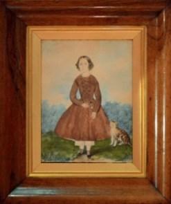 A folk art portrait