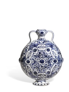 Blue and White Moonflask