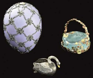 Imperial Easter Egg of 1906 known as the Swan Egg.